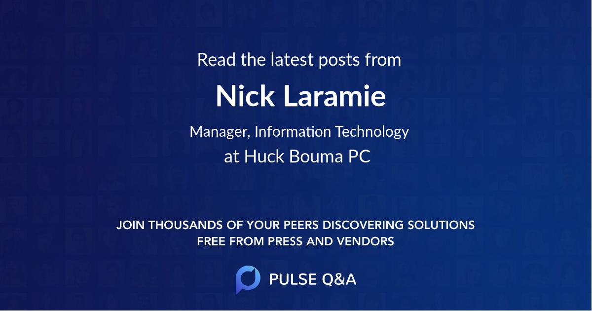 Nick Laramie