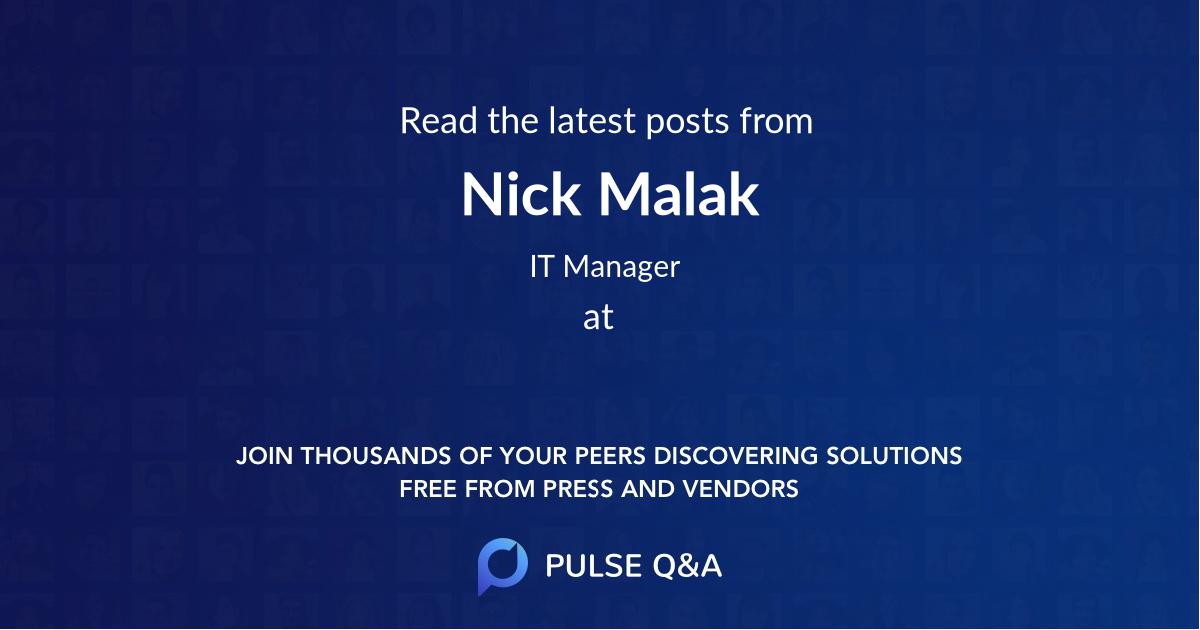 Nick Malak