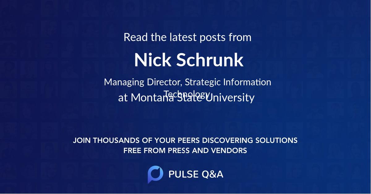 Nick Schrunk
