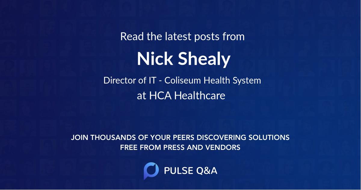 Nick Shealy