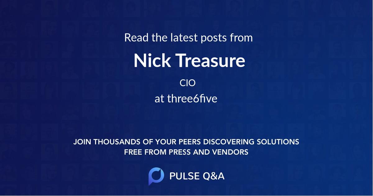 Nick Treasure