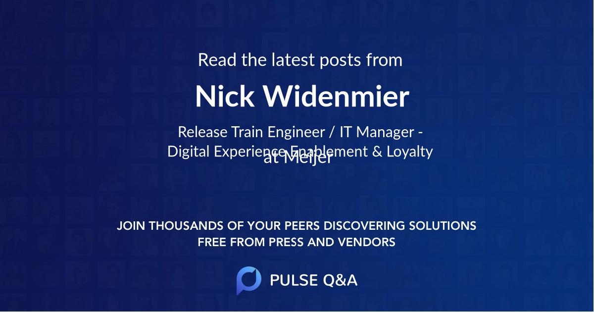Nick Widenmier