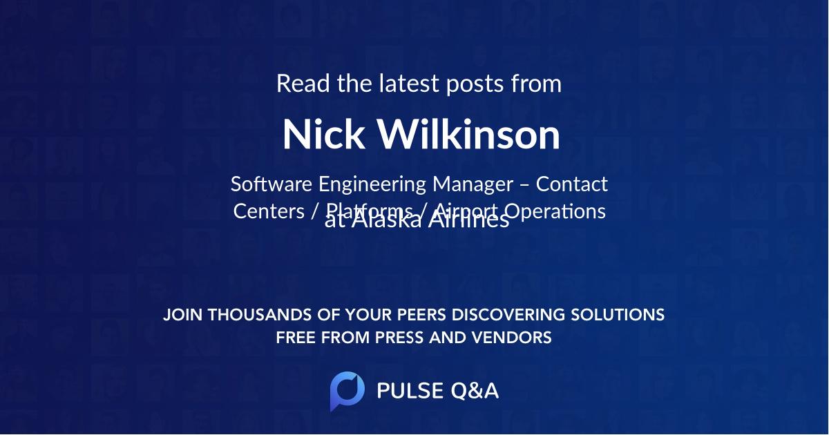 Nick Wilkinson