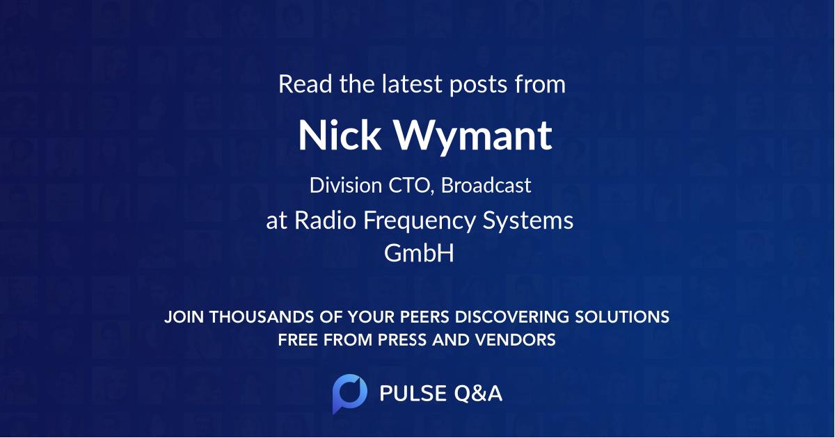 Nick Wymant