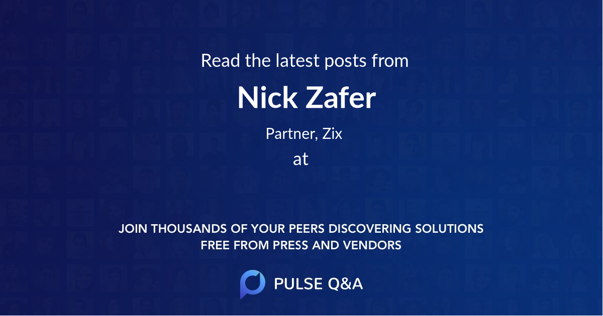 Nick Zafer