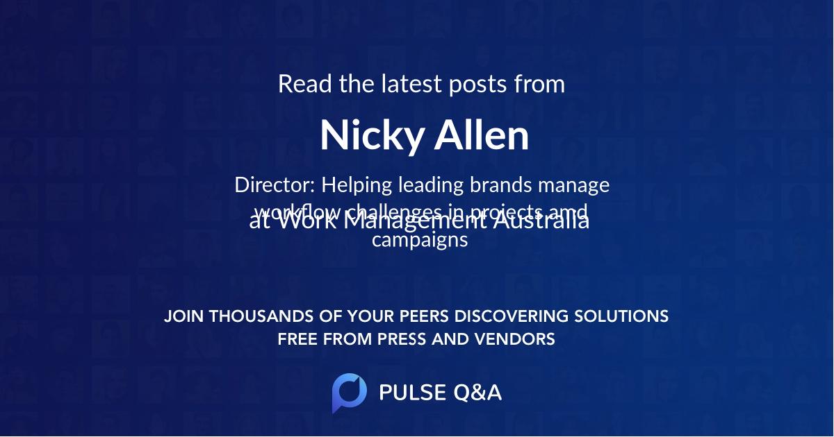 Nicky Allen