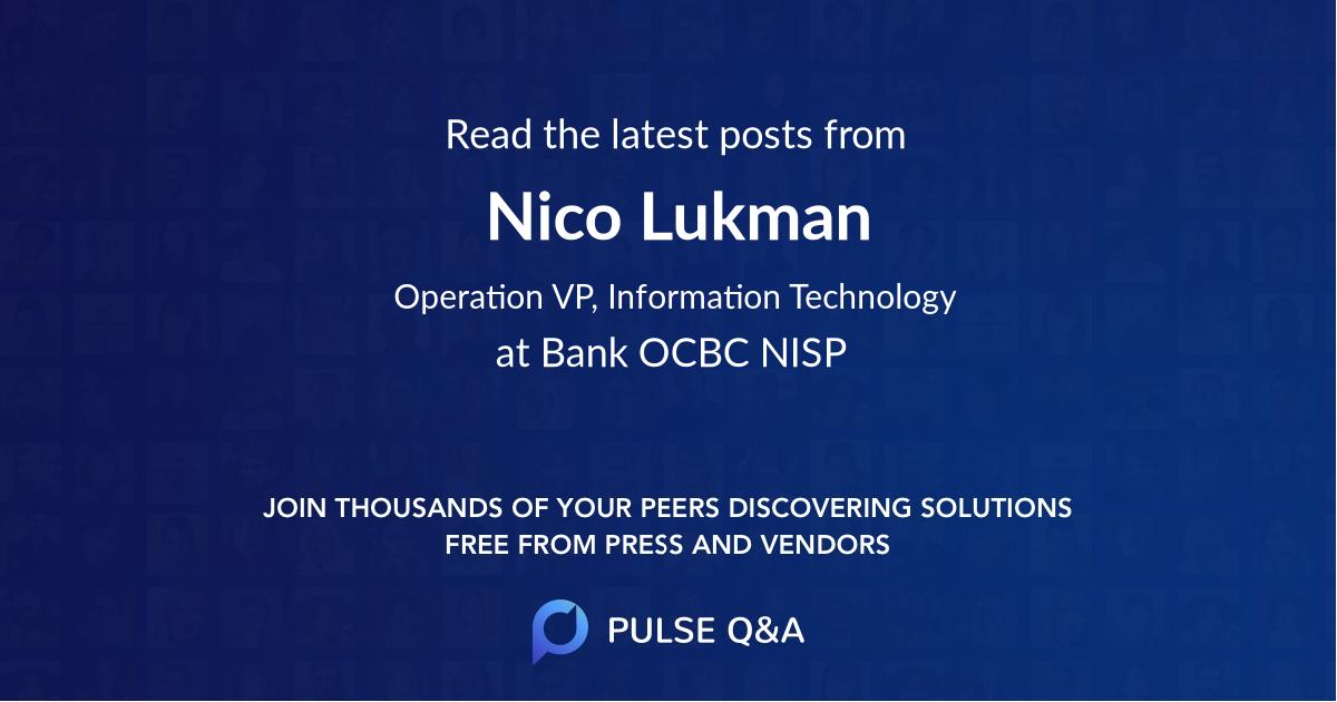 Nico Lukman
