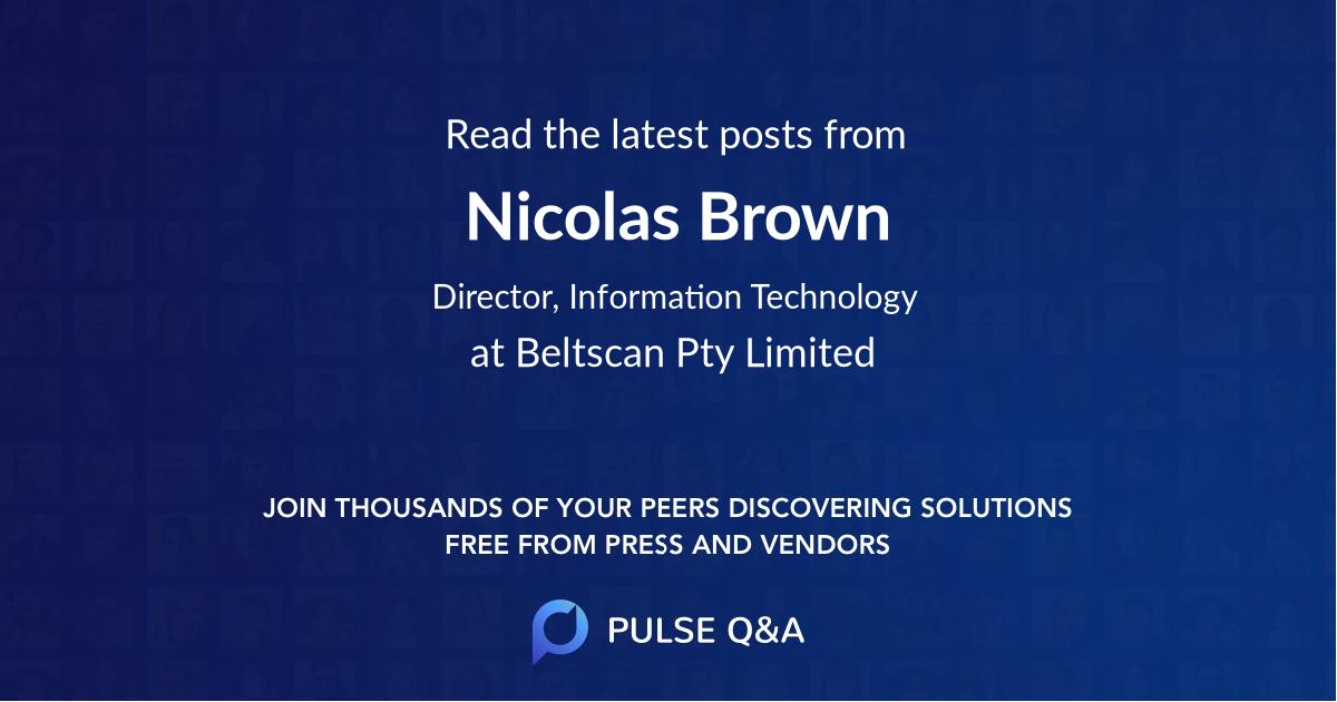 Nicolas Brown