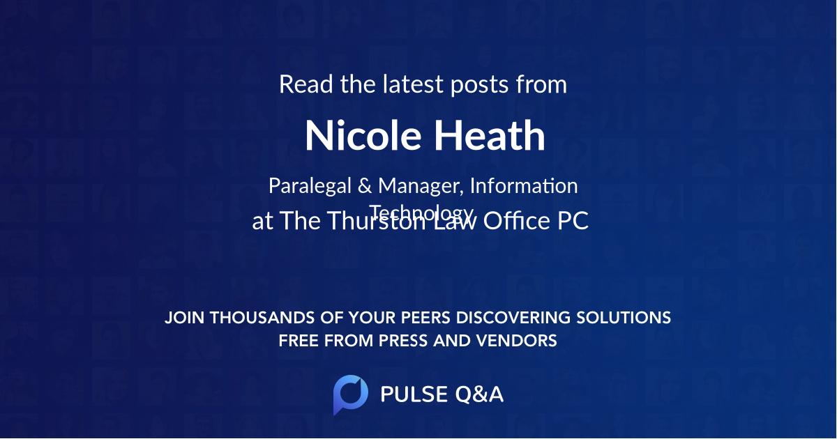 Nicole Heath