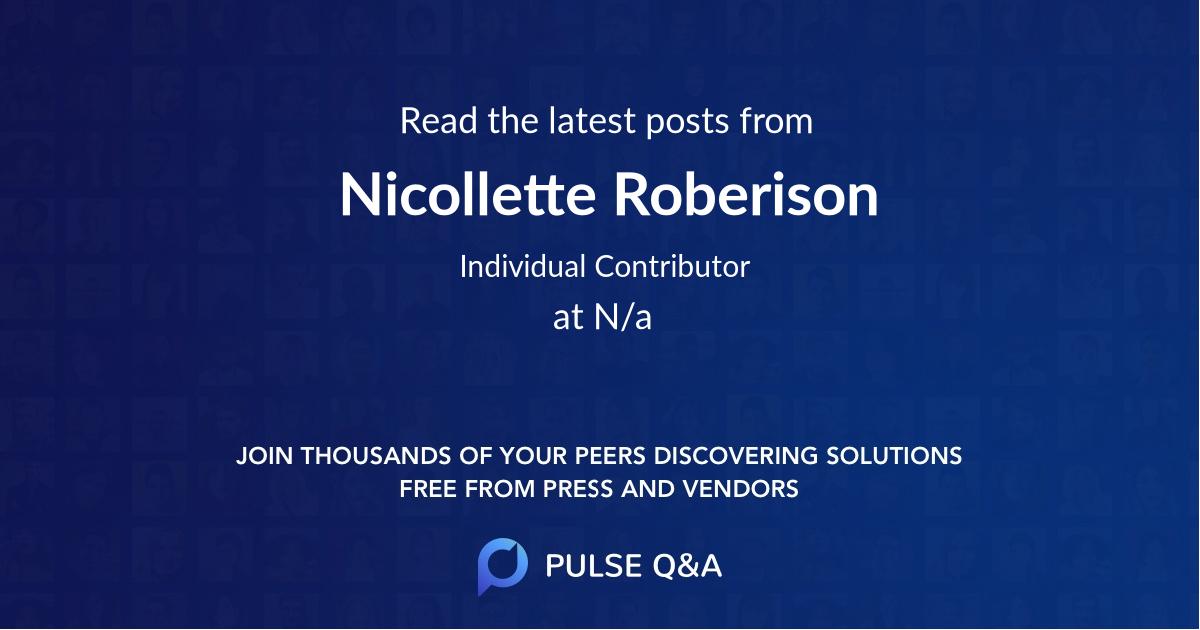 Nicollette Roberison