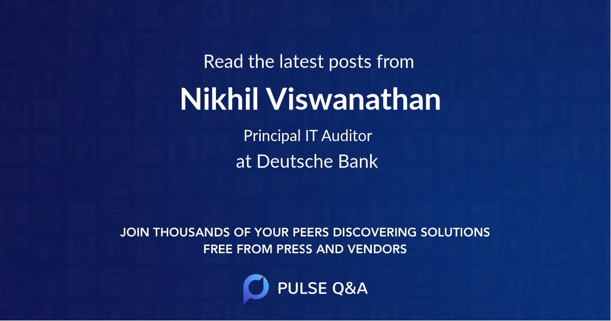 Nikhil Viswanathan