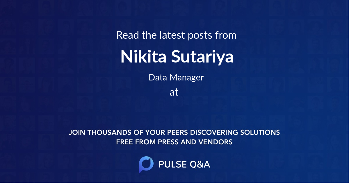 Nikita Sutariya