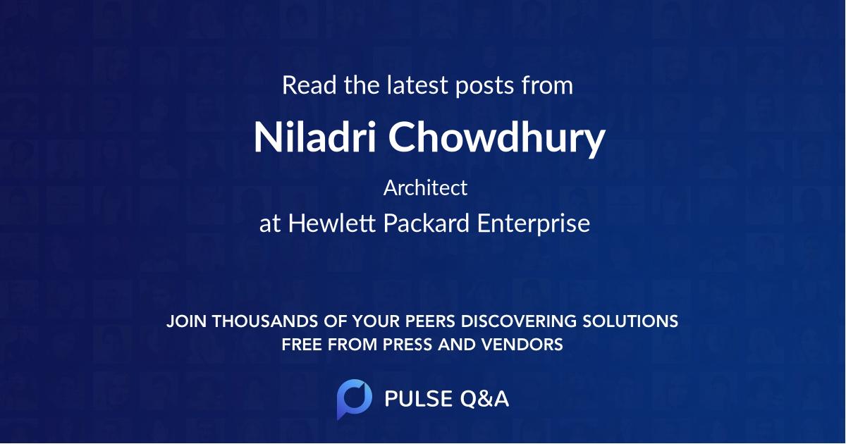 Niladri Chowdhury