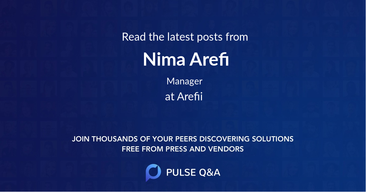 Nima Arefi