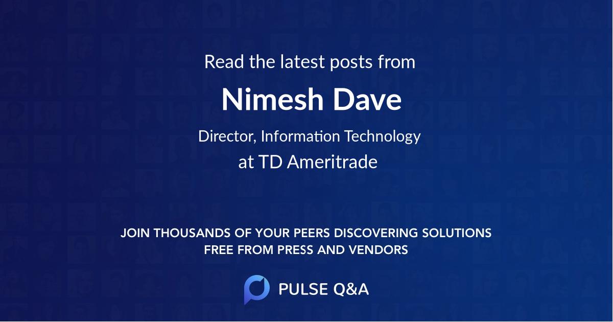 Nimesh Dave