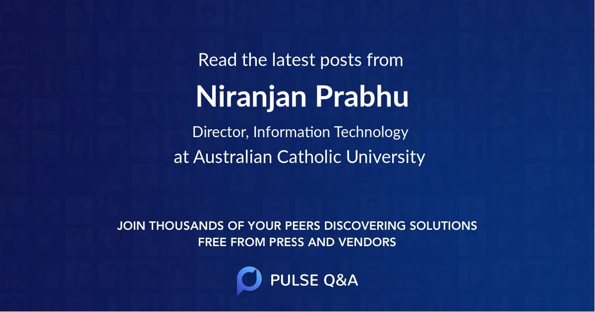 Niranjan Prabhu