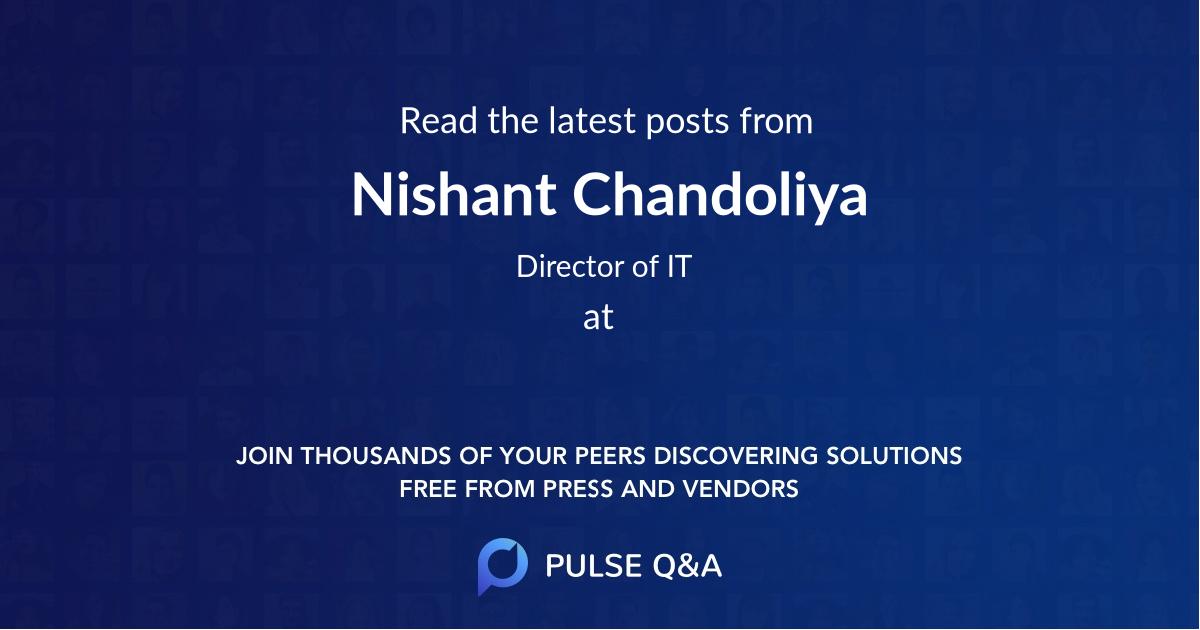 Nishant Chandoliya