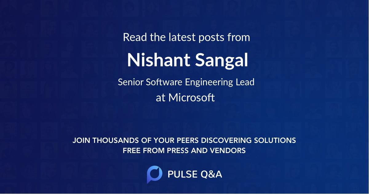 Nishant Sangal