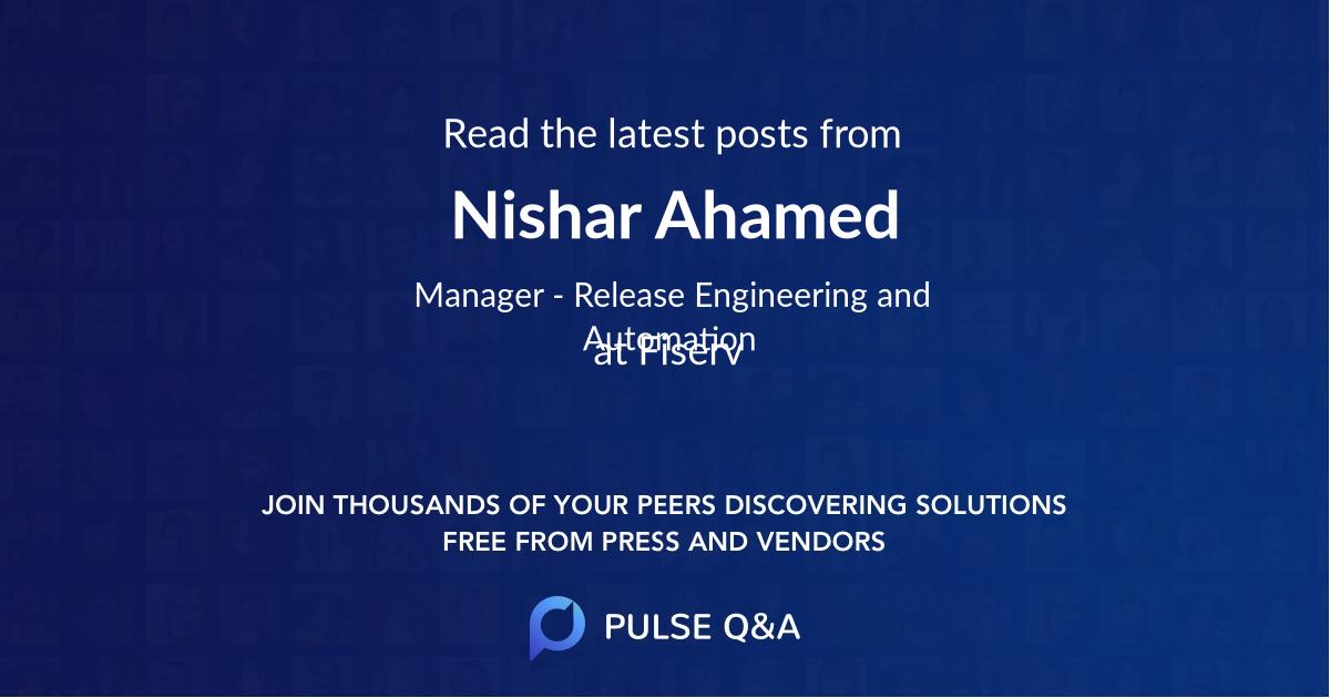 Nishar Ahamed