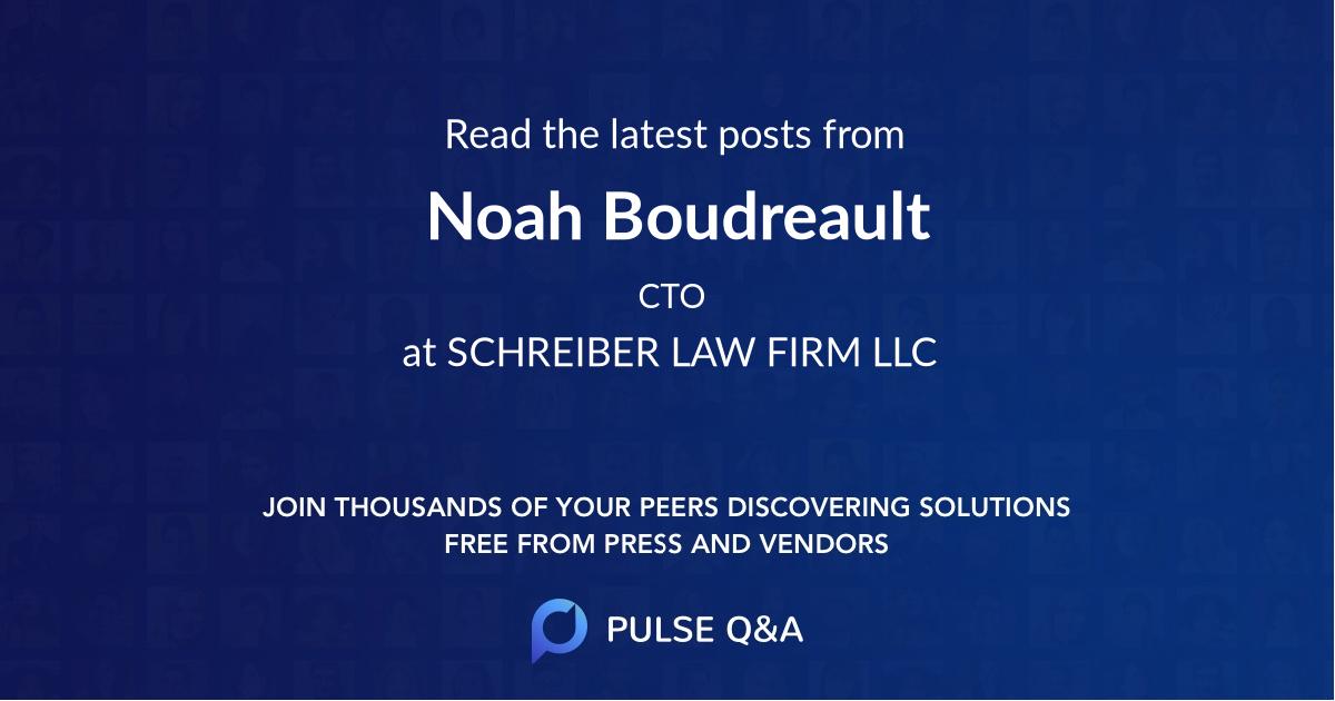 Noah Boudreault