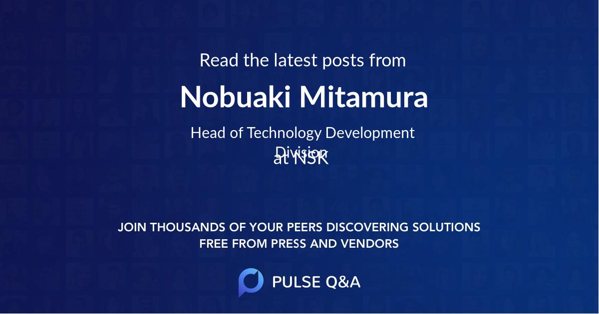 Nobuaki Mitamura
