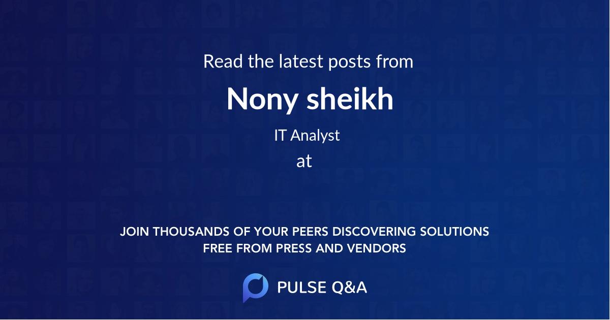Nony sheikh