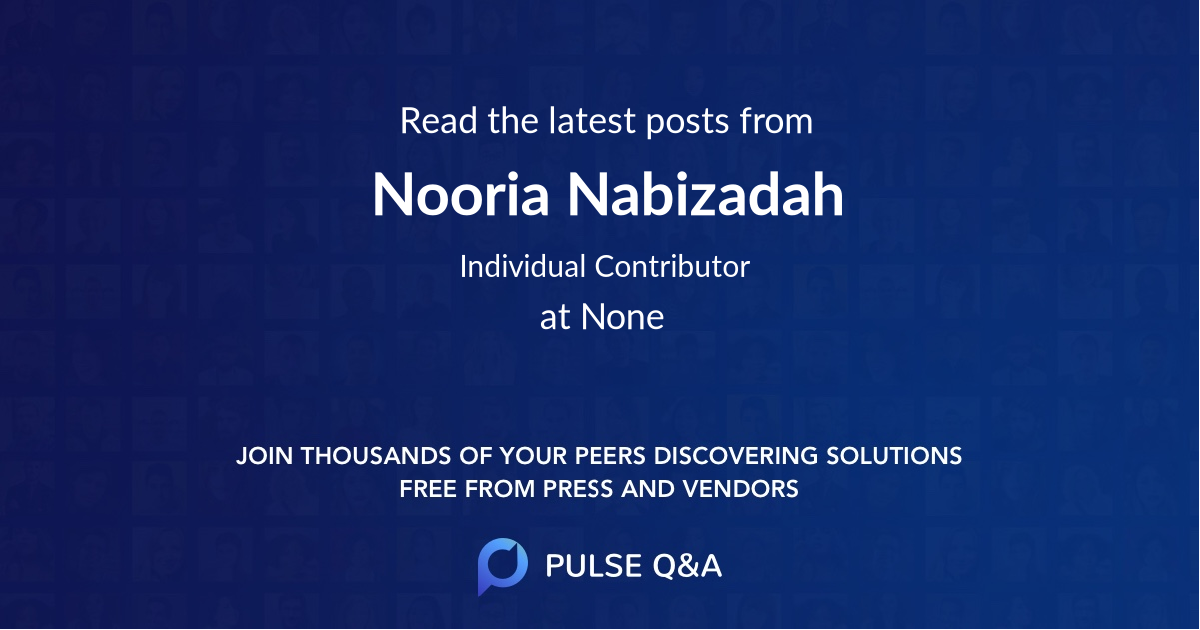 Nooria Nabizadah