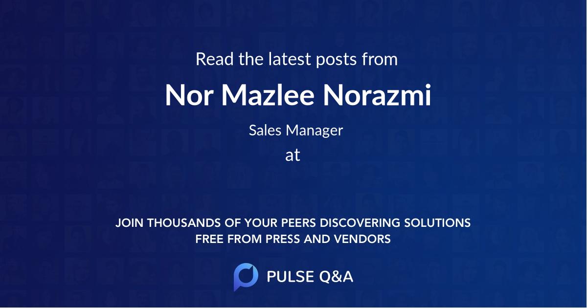 Nor Mazlee Norazmi