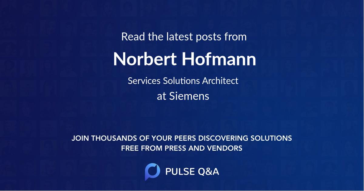 Norbert Hofmann