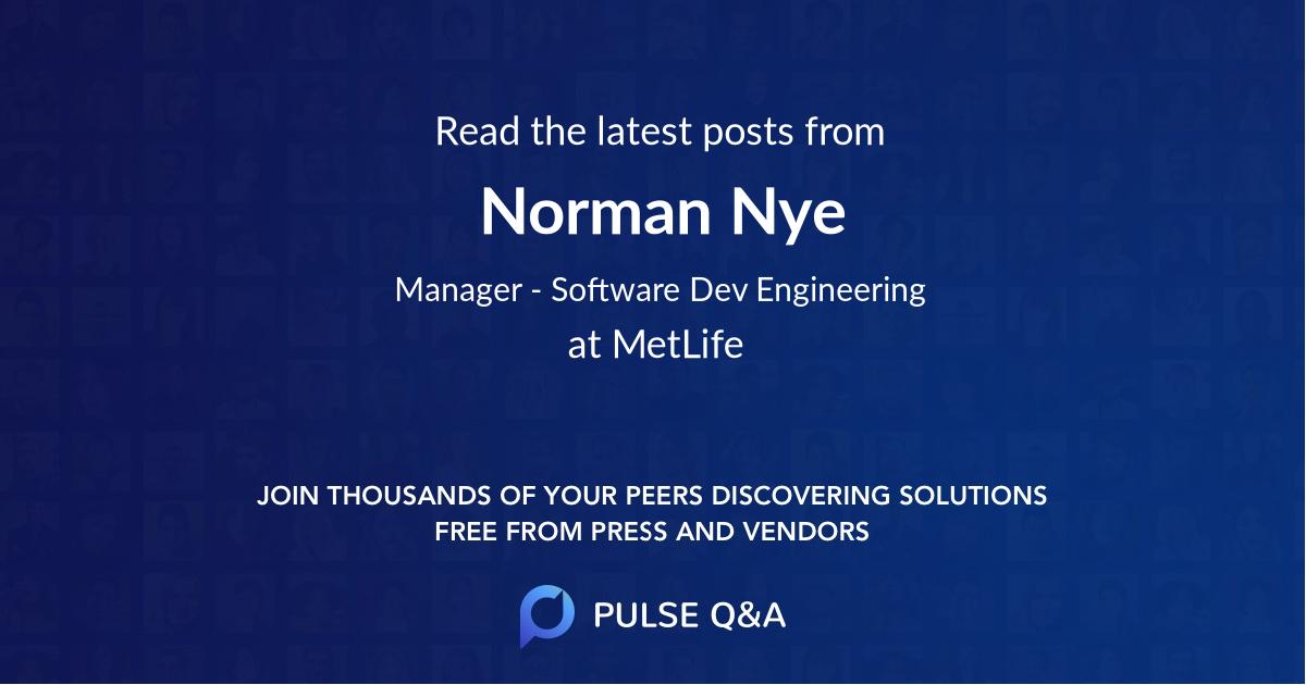 Norman Nye