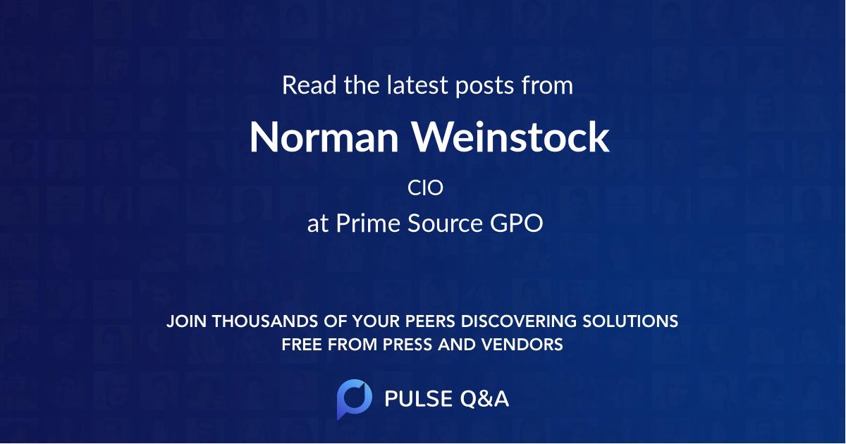 Norman Weinstock