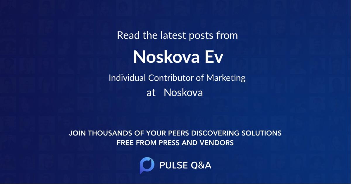 Noskova Ev