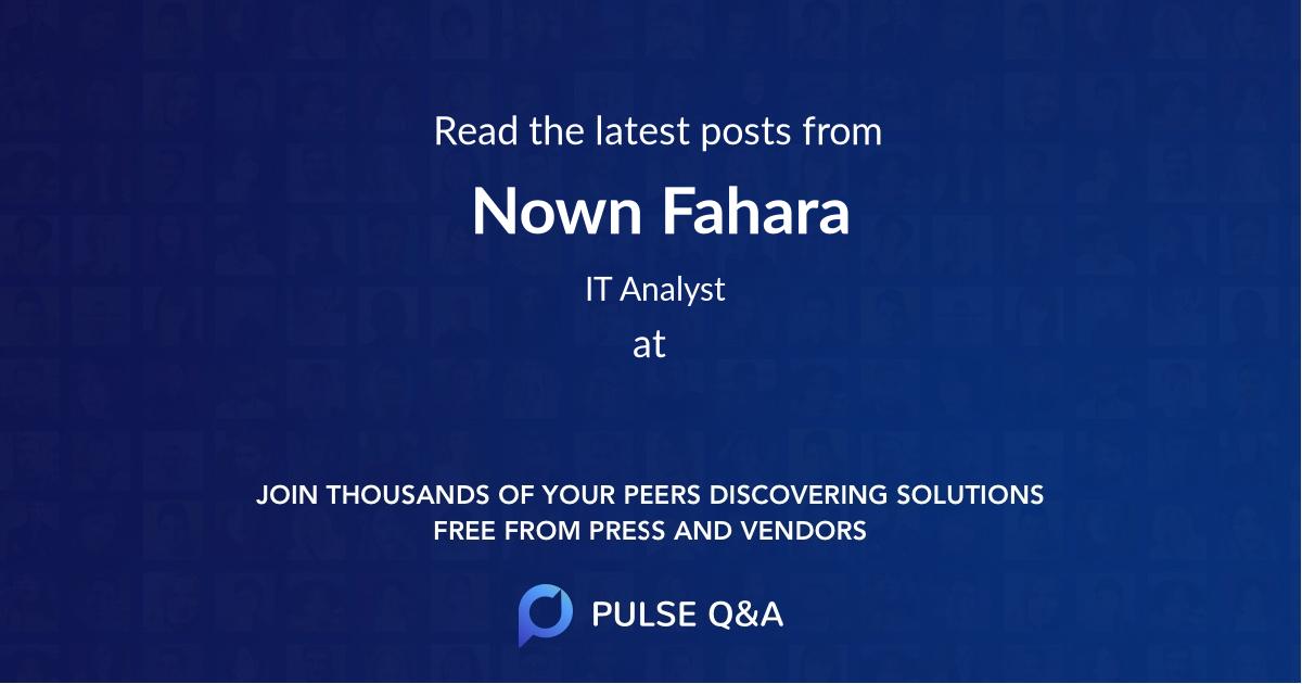 Nown Fahara