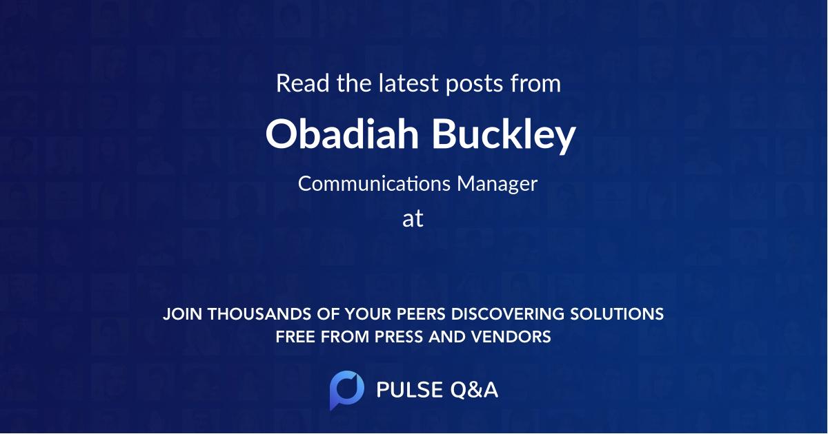 Obadiah Buckley