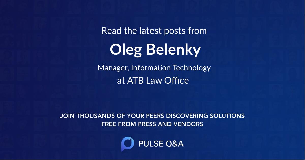 Oleg Belenky
