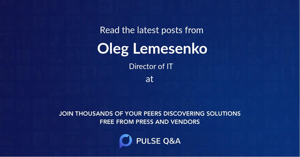Oleg Lemesenko