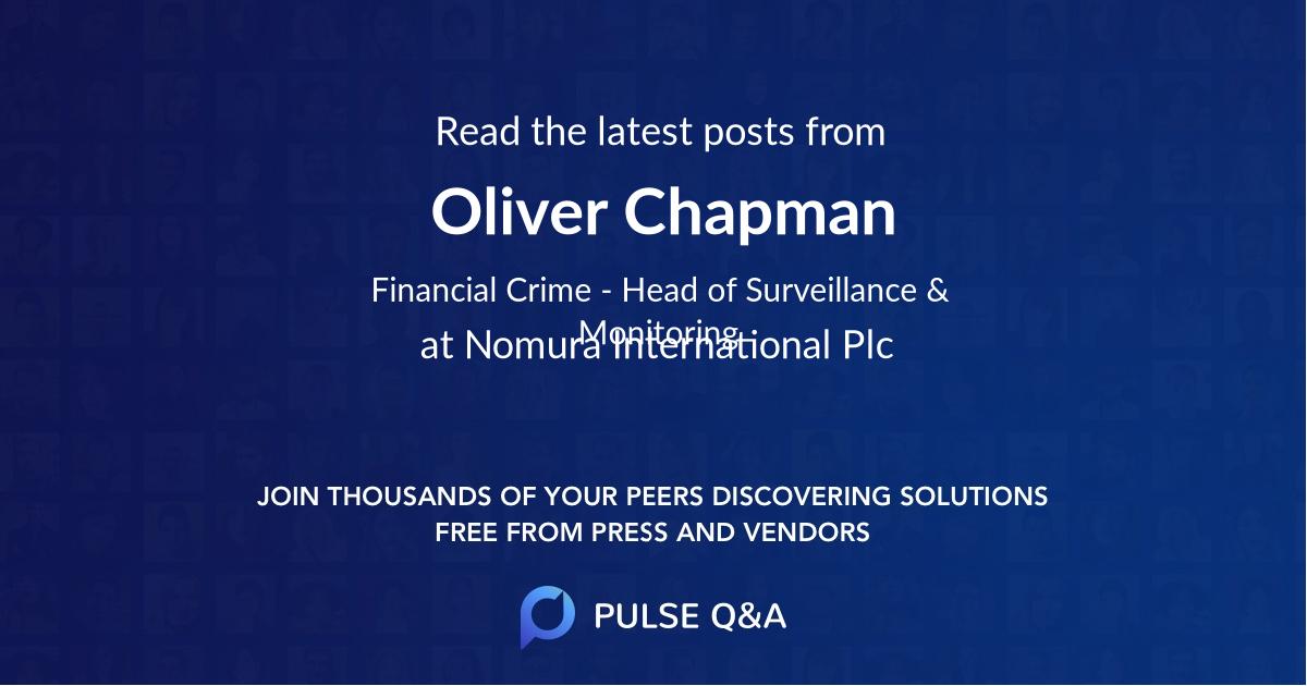 Oliver Chapman