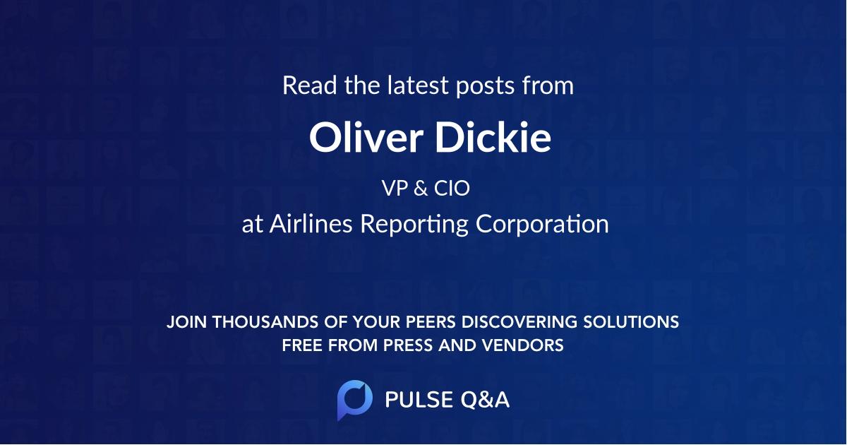 Oliver Dickie