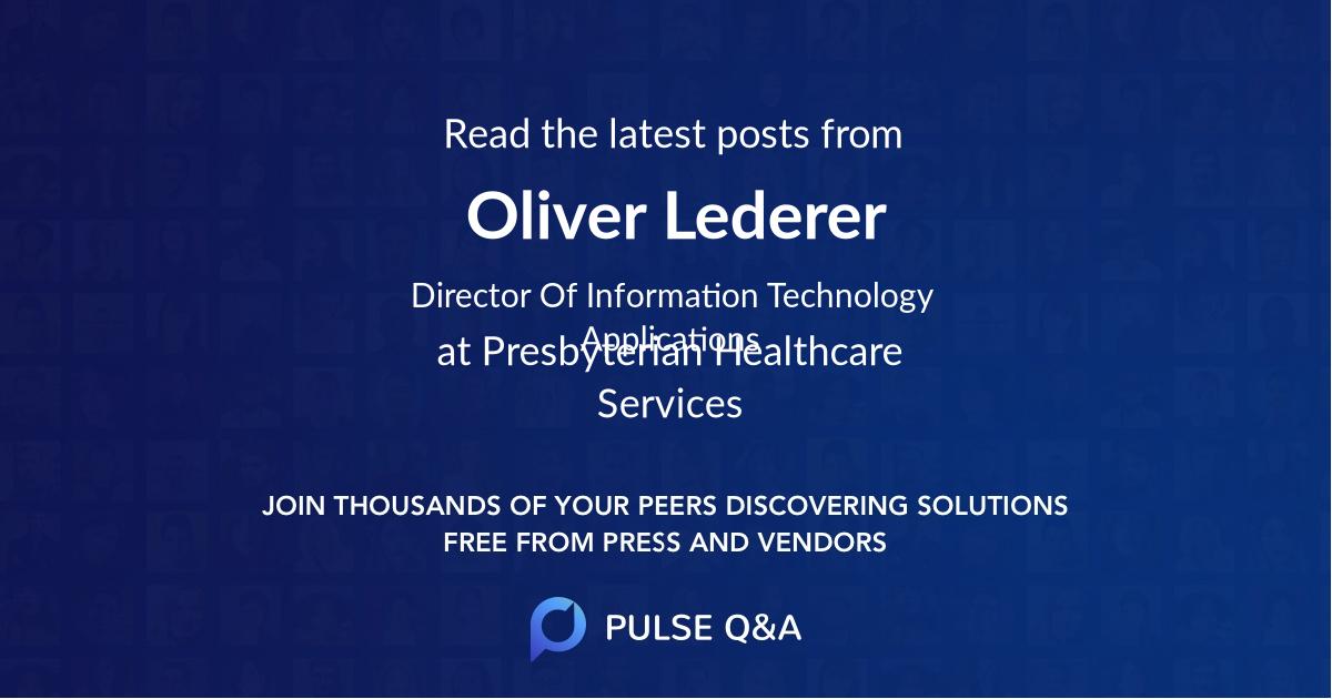 Oliver Lederer
