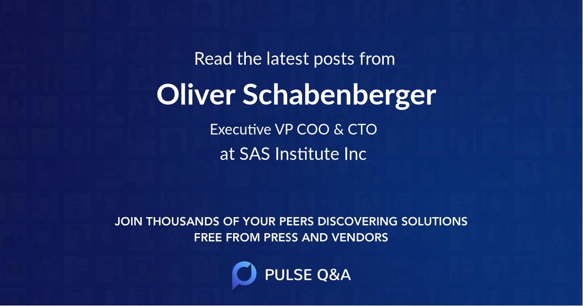 Oliver Schabenberger