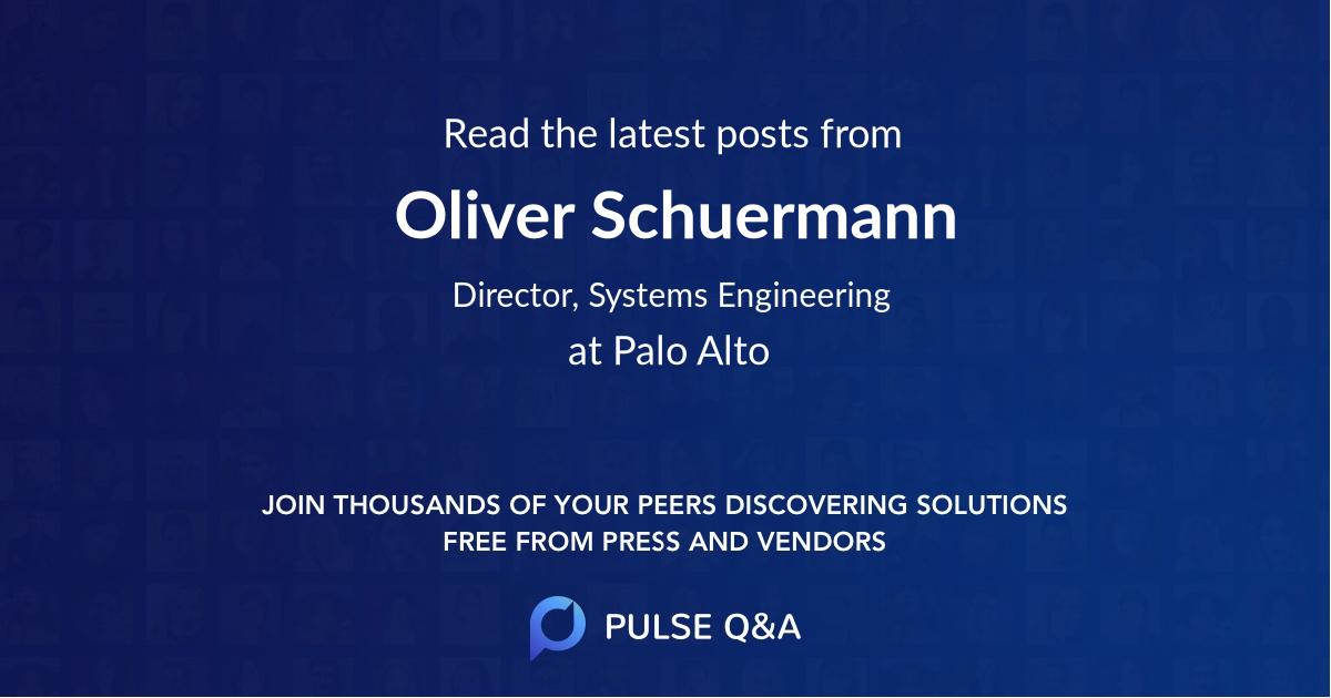 Oliver Schuermann