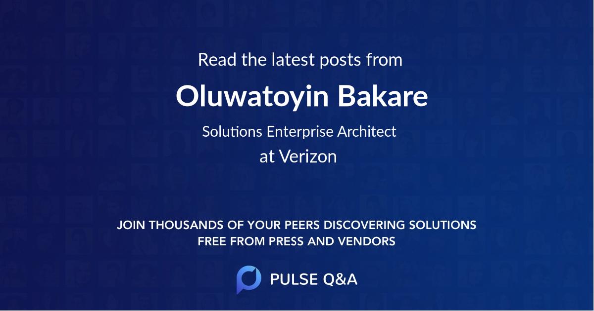 Oluwatoyin Bakare