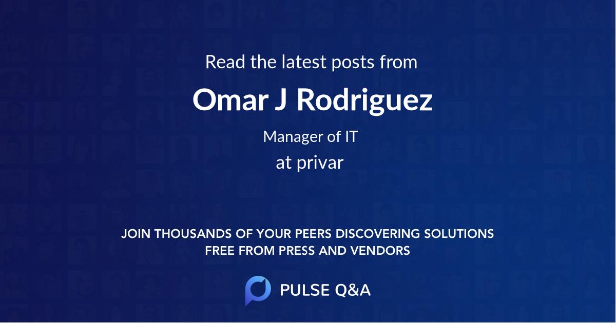 Omar J Rodriguez