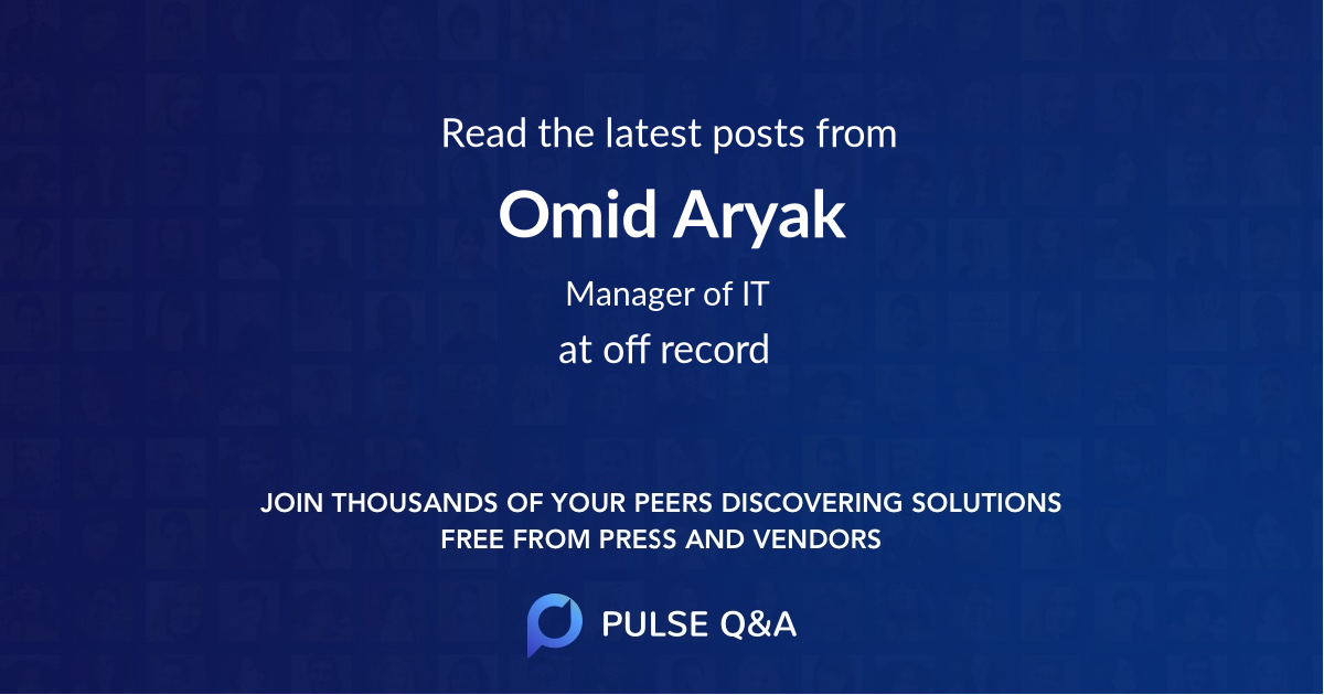 Omid Aryak