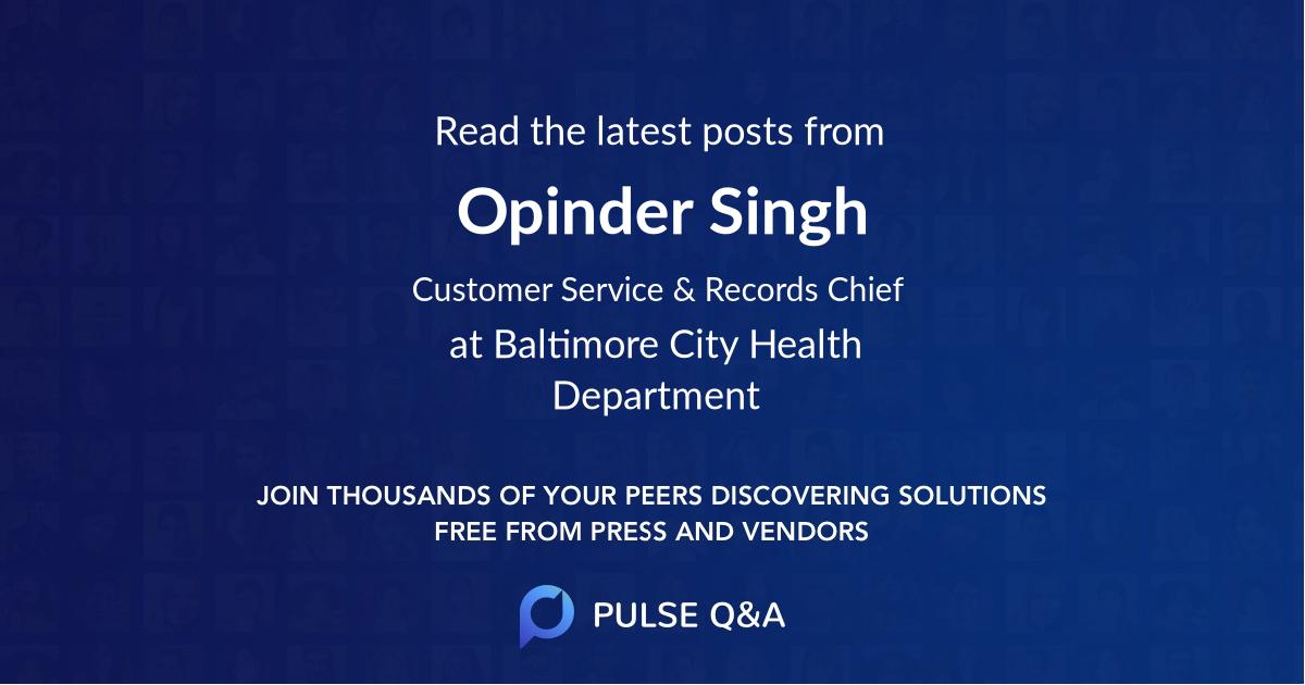 Opinder Singh