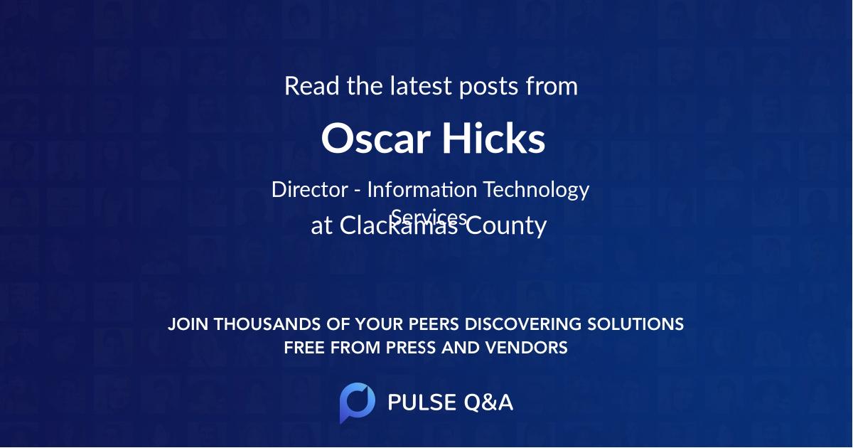 Oscar Hicks