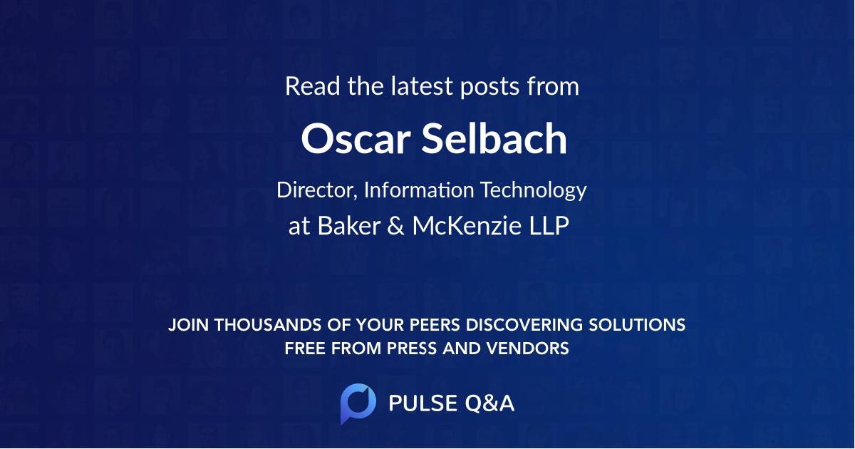 Oscar Selbach
