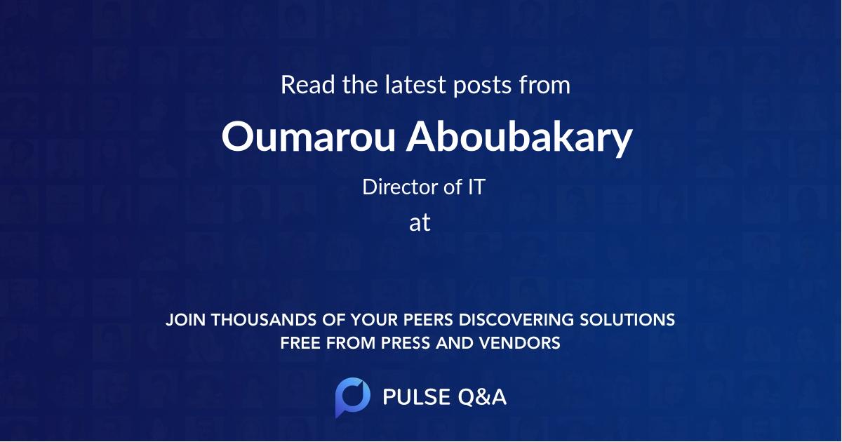 Oumarou Aboubakary