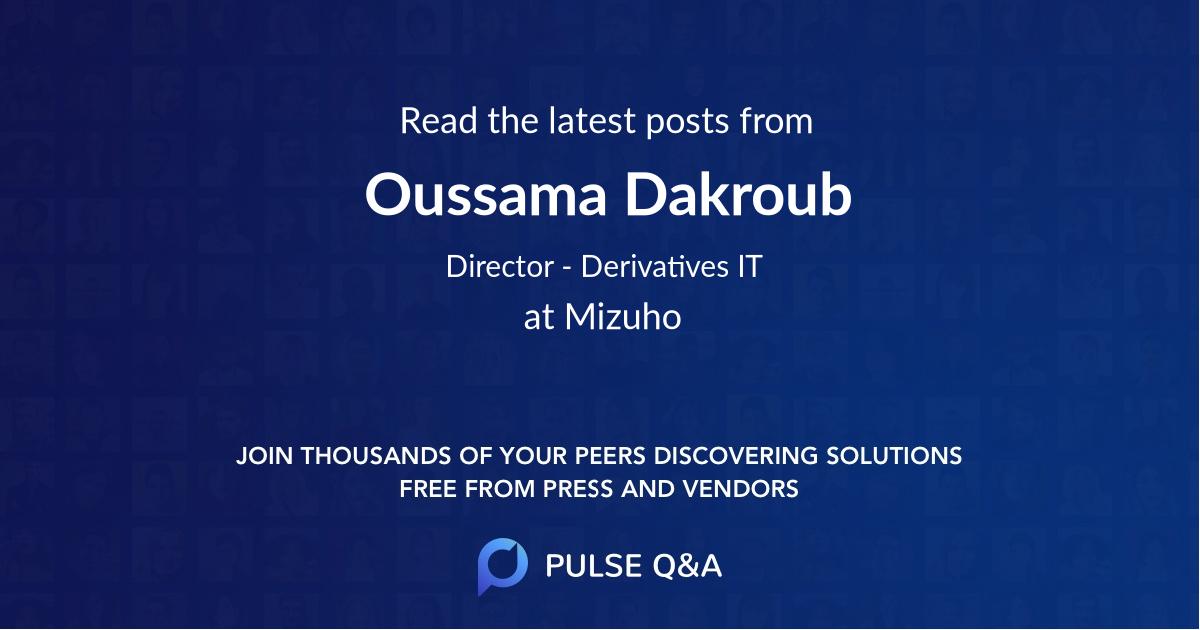 Oussama Dakroub