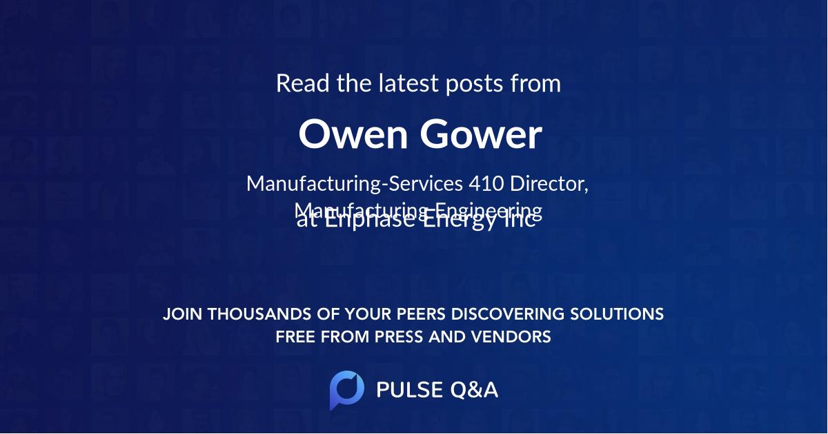 Owen Gower